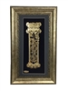 Birkat Habayit Gold Art wall frame Home Blessing in Hebrew 18x32""