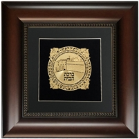 Birkat Habayit Gold Art with Black Background 16x16