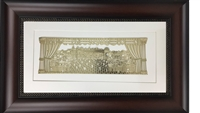 Im Eshkachech Gold Art in 25x15 Dark Brown Wall Frame