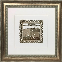 Im Eshkachech Gold Art in 16x16 Silver Wall Frame