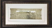 Im Eshkachech Yerushalayim Gold Art in Brown Frame Size 15x25
