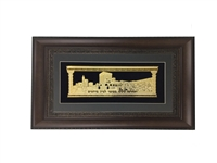 V'Sechzena Gold Art Wall Frame Size 18x32 Brown Frame