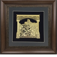 V'Sechzena Gold Art Wall Frame Size 22x22 Brown Frame