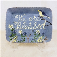 We are Blessed Plate with Bird and Flowers (MTO) $55