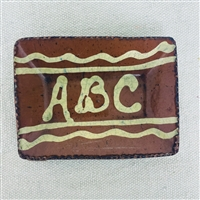 Small Quilled ABC Plate $18