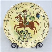 Horse and Rider Plate $135