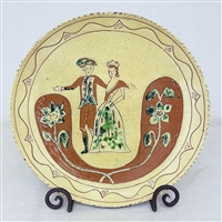 Colonial Couple Plate $135