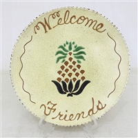 Welcome Friends Pineapple Plate $105