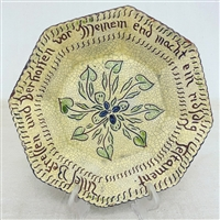 Sgraffito Floral Plate $105
