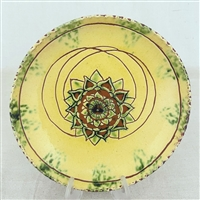 Floral Sgraffito Plate $65
