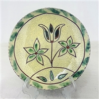 Sgraffito Plate with Floral $45