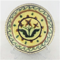 Floral Sgraffito Plate $45