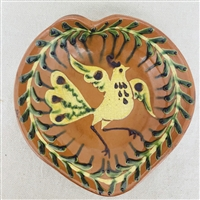 Heart Plate with Bird $65