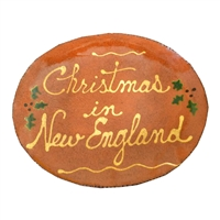 Christmas in [CUSTOM TEXT] Quilled Plate (MTO) $225
