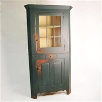 Ohio Corner Cupboard with Glass Door $3250