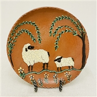 Sheep with Willow Trees Plate $45