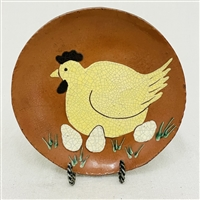 Chicken Laying on Eggs Plate $45