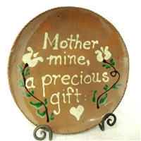 Quilled Mother Mine Plate $95