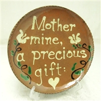 Quilled Mother Mine Plate $75