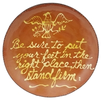 Stand Firm Quilled Plate (MTO) $185