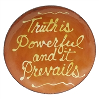 Truth is Powerful and it Prevails Quilled Plate (MTO) $95
