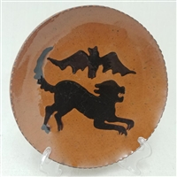 Cat and Bat Plate $55