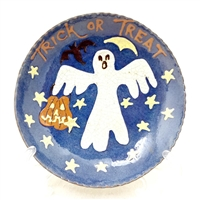 Trick or Treating Ghost Plate $45