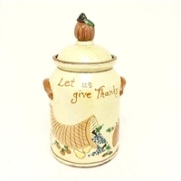 Give Thanks Pot with Pumpkin $225