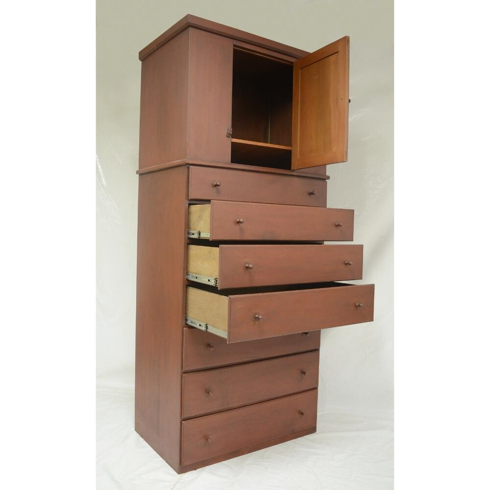 One Door Two Piece Shaker Cupboard Chest Of Drawers 4500 Larger Photo