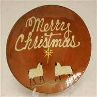 Quilled Christmas Plate with Sheep $95