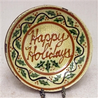 Happy Holidays Plate with Holly $45