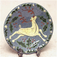 Small Stag Plate $25