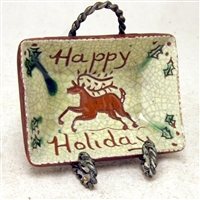 Holiday Stag Plate $25