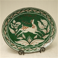 Deer and Tulips Plate (MTO) $225