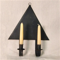 Tin Triangle Candle Sconce $65