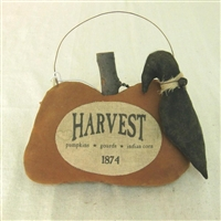 Hanging Pumpkin with Crow $24.50 (SR)