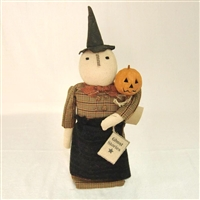 Witch with Pumpkin Wand $61.25