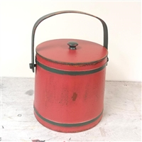 Painted Firkin with lid $135