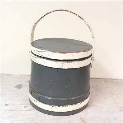Painted Firkin with lid $125