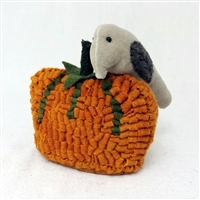 Hooked Pumpkin with Crow $72.50
