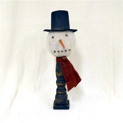 Snowman on Wood Stand $42.50