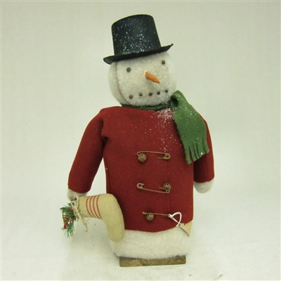 Snowman with Stocking $85