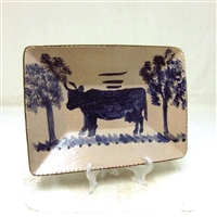 Redstoneware Cow Plate $135