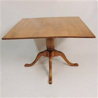 Square Top Queen Anne Dining Table $3500