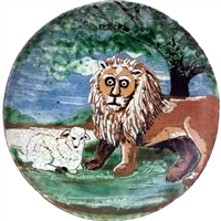 Peaceable Kingdom Plate (MTO) $85