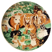 Peaceable Kingdom Plate (MTO) $425