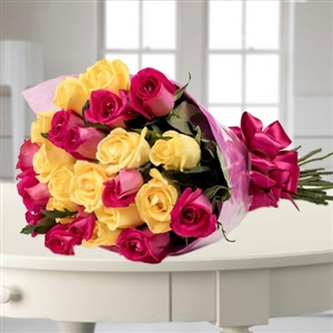 Pink & Yellow roses