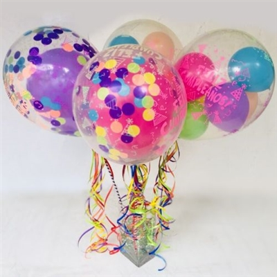 HAPPY BIRTHDAY BALLOONS BOUQUET