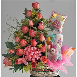 Gift basket new born