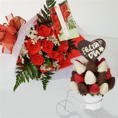 Chocolate strawberry arrangement and bouquet